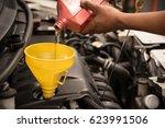 close up man hands. mechanic...   Shutterstock . vector #623991506