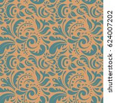 seamless damask pattern.... | Shutterstock . vector #624007202