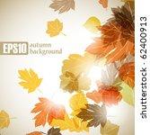 autumn background  eps10   Shutterstock .eps vector #62400913