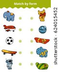 matching game  vector education ... | Shutterstock .eps vector #624015452
