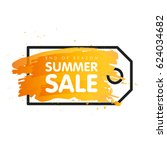 end of season summer sale sign... | Shutterstock .eps vector #624034682