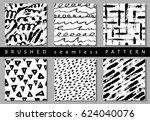 vector set of seamless pattern... | Shutterstock .eps vector #624040076