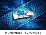 3d rendering 5g network 5g... | Shutterstock . vector #624044366