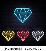 set of diamonds of different...   Shutterstock .eps vector #624044372