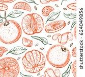 oranges  sketch.seamless... | Shutterstock .eps vector #624049856
