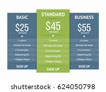 pricing table template with...