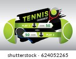 tennis tournament design with... | Shutterstock .eps vector #624052265
