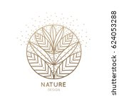 vector logo of floral element.... | Shutterstock .eps vector #624053288