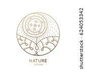 vector logo of floral element.... | Shutterstock .eps vector #624053342