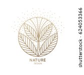 vector logo of floral element.... | Shutterstock .eps vector #624053366