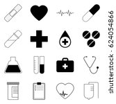 medical icons. vector... | Shutterstock .eps vector #624054866