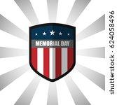 memorial day. flat designed...   Shutterstock .eps vector #624058496