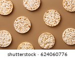flat lay rice cake pattern on a ... | Shutterstock . vector #624060776