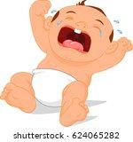 baby crying cartoon | Shutterstock . vector #624065282