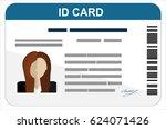 id card. flat design style. | Shutterstock .eps vector #624071426