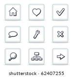 basic web icons  white square... | Shutterstock .eps vector #62407255