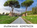 rome  italy. the appian way ... | Shutterstock . vector #624076226