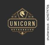 luxury logo template vector... | Shutterstock .eps vector #624079706
