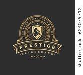 luxury logo template vector... | Shutterstock .eps vector #624079712