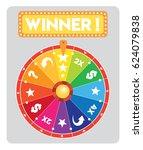 multicolored lucky wheel flat...   Shutterstock .eps vector #624079838