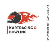 carting club or kart races and... | Shutterstock .eps vector #624088145