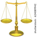 justice scales  vector    Shutterstock .eps vector #624089942