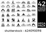 mega set and big group  real... | Shutterstock .eps vector #624090098