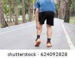 cramp in leg while exercising.... | Shutterstock . vector #624092828