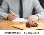 bank does approve car loan | Shutterstock . vector #624092876