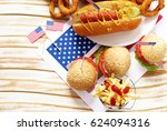 traditional  hot dog  french... | Shutterstock . vector #624094316