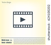 film strip with play   black... | Shutterstock .eps vector #624100202