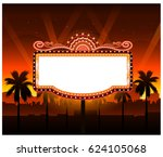 now showing vector theater... | Shutterstock .eps vector #624105068