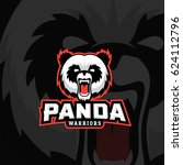 panda warriors abstract vector... | Shutterstock .eps vector #624112796