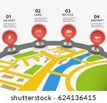 city map vector movement... | Shutterstock .eps vector #624136415