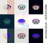 set of hedgehog logos. abstract ... | Shutterstock .eps vector #624141086