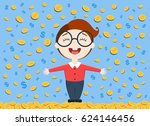 vector illustration of young... | Shutterstock .eps vector #624146456