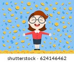 vector illustration of young... | Shutterstock .eps vector #624146462