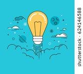 line flat design vector... | Shutterstock .eps vector #624146588