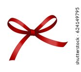 red festive tied bow made from... | Shutterstock .eps vector #624149795