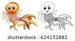 doodle animal for jellyfish... | Shutterstock .eps vector #624152882