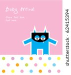cute baby monster arrival | Shutterstock .eps vector #62415394