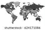 high detailed world map... | Shutterstock .eps vector #624171086