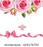 mother's day card with pink... | Shutterstock .eps vector #624176792