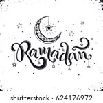 ramadan text isolated on white... | Shutterstock .eps vector #624176972