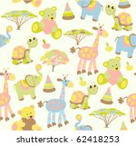 Stock vector seamless baby background 62418253