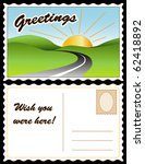 postcard  greetings  wish you... | Shutterstock .eps vector #62418892
