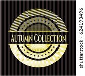 autumn collection golden badge | Shutterstock .eps vector #624193496