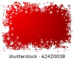 grunge christmas frame with... | Shutterstock .eps vector #62420038