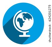 earth globe icon stock vector... | Shutterstock .eps vector #624201275