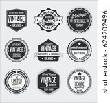 vintage labels and badges... | Shutterstock .eps vector #624202496